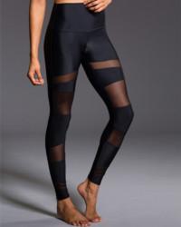 ONZIE High Rise Bondage Legging - Black / Black Mesh