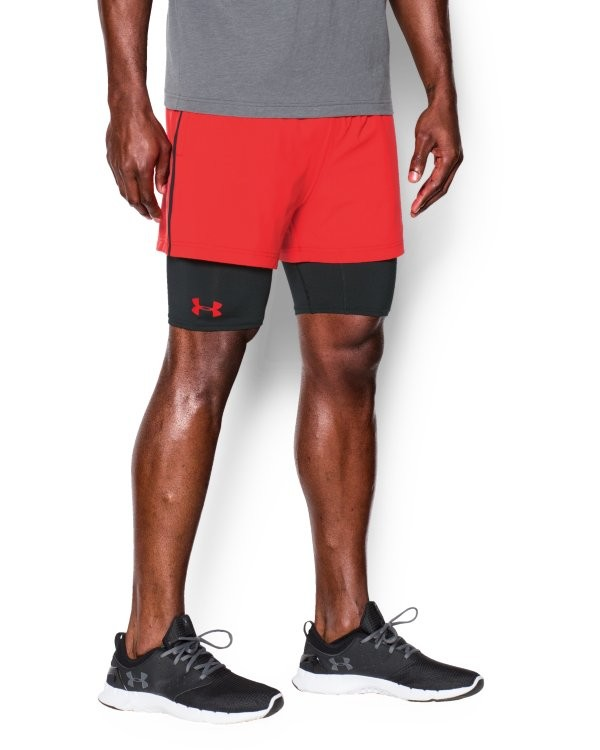 Under Armour 2- in -1 Trainer Short Rocket Red