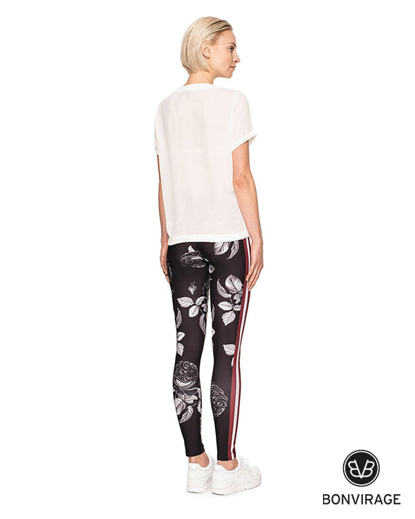 Bonvirage Black Roses Legging