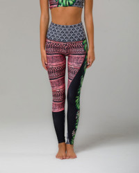 High Rise Graphic Legging - Cuban Angel