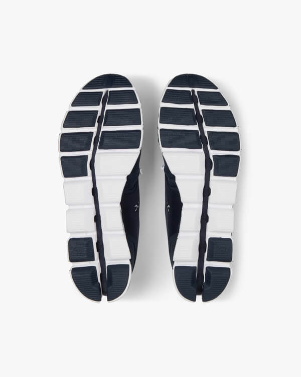 ON Cloud Navy White Laufschuh Ansicht Sohle