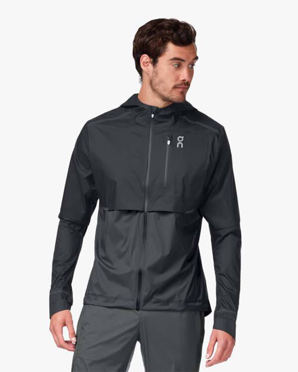On Running Weather Jacket Black Shadow