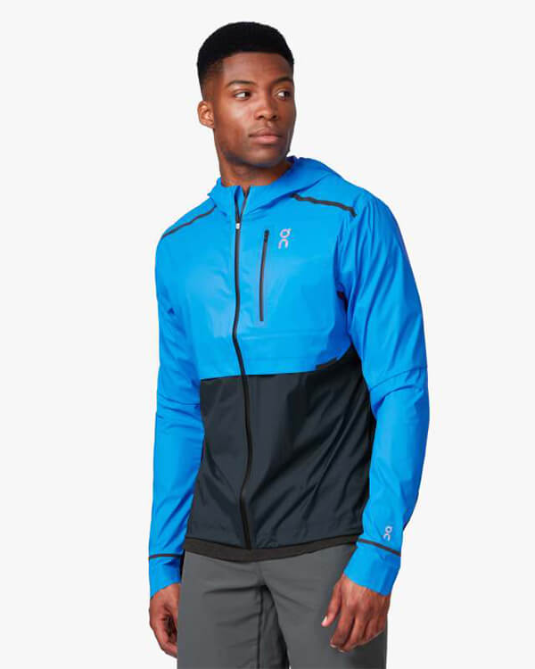 On Running Weather Jacket Malibu Navy