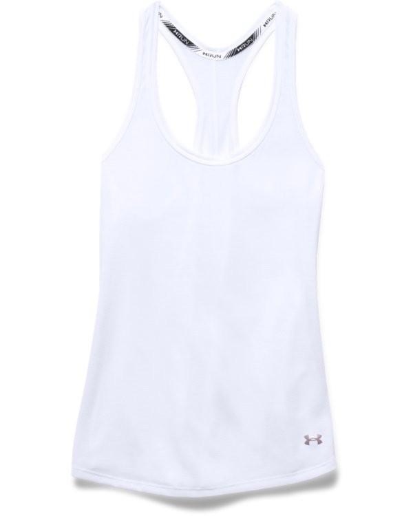 UA Damen Lauf-Tanktop Threadborne Streaker-Weiß
