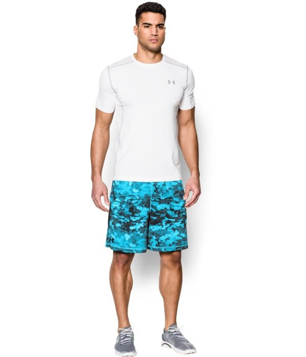 8in Raid Novelty Short,Print Island Blue