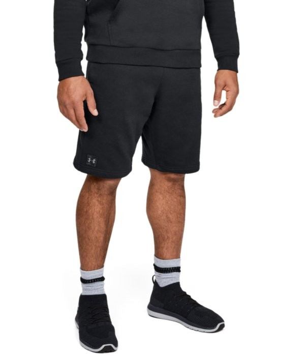 UA RIVAL FLEECE SHORT- Schwarz