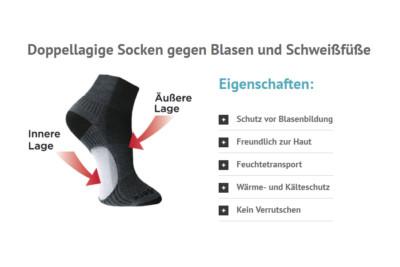Anti Blasen Socken