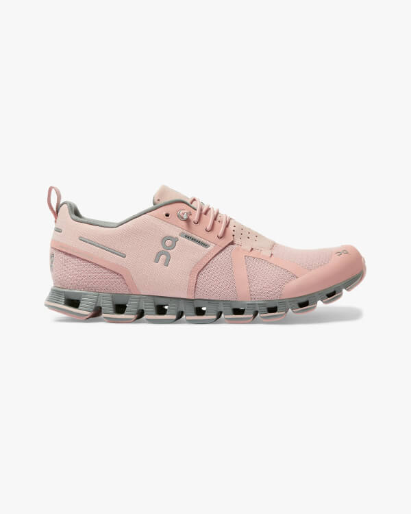 On Running Cloud Waterproof Rose Lunar Seitenansicht