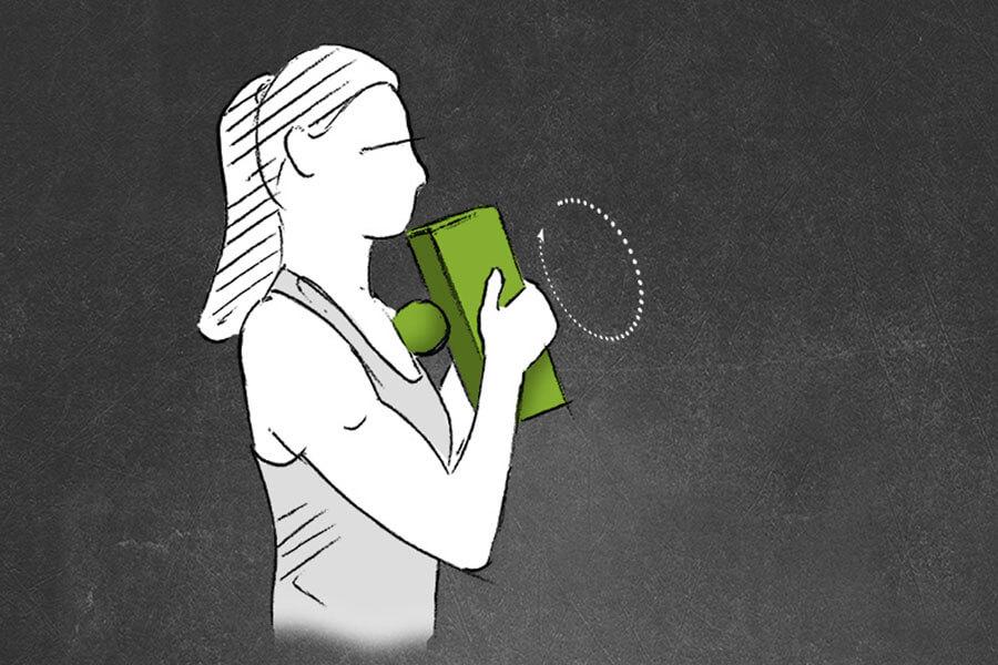 Blackroll Block Übungen für die Brust