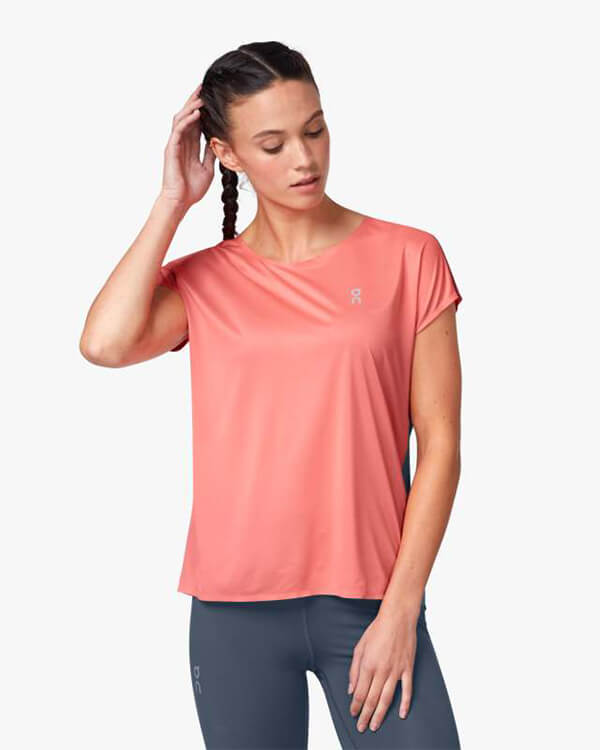 On Running Performance Laufshirt Coral Storm