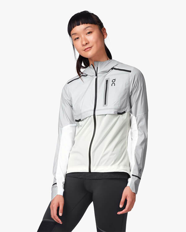 On Running Weather Jacket Grey White
