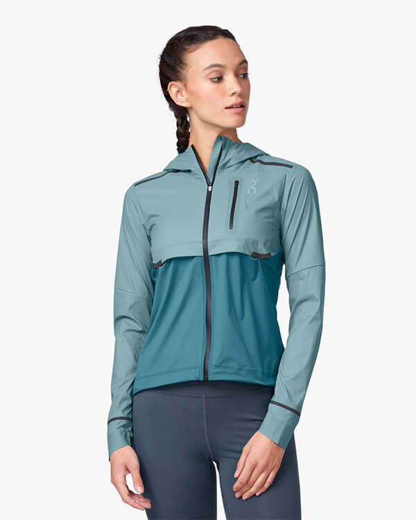 On Running Weather Jacket Sea Storm