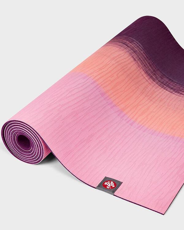 Manduka Eko Lite Yogamatte Fuchsia Stripe Ansicht