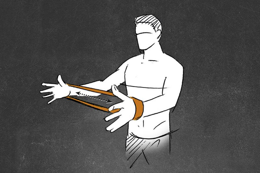 Loop Band Uebung Arm oeffnen